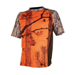 Tee-shirt Somlys camouflage orange enfant