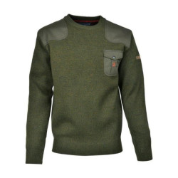 Pull Chasse Brodé Col Rond Percussion