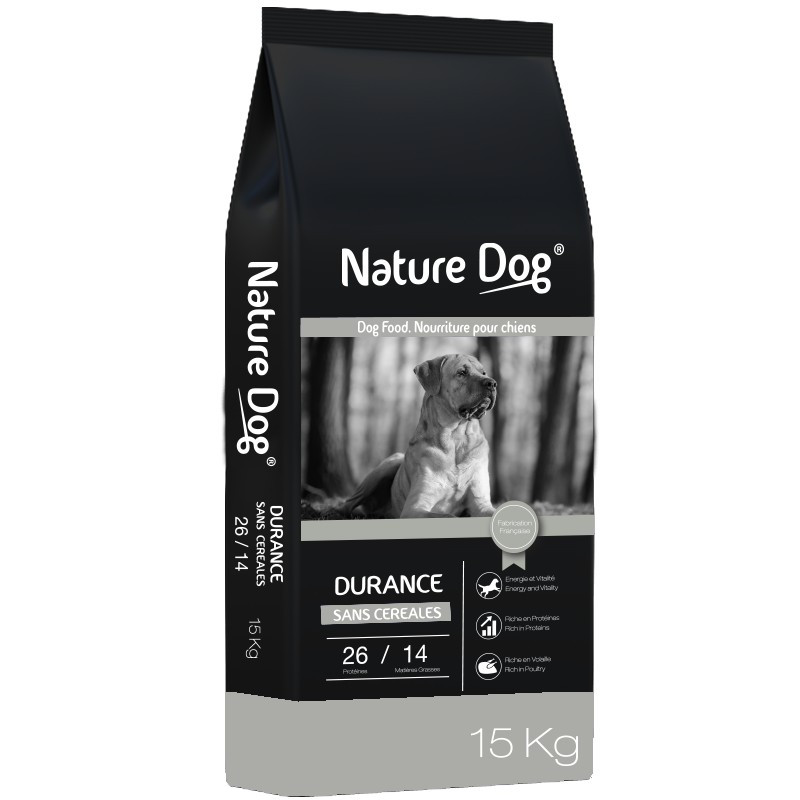 Croquettes chien sans céréale Durance Pro 26/14 Nature Dog