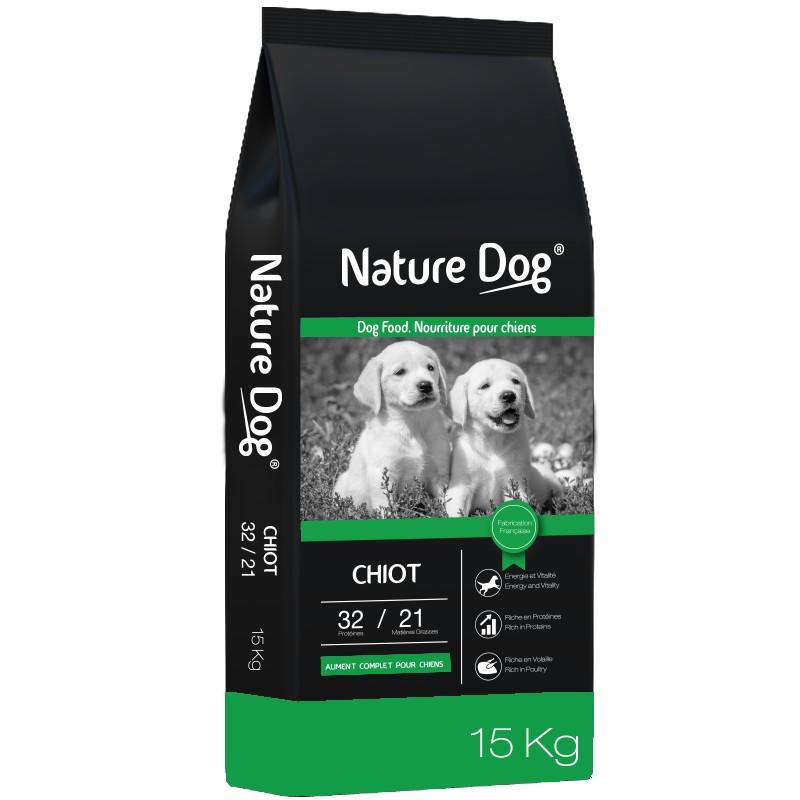 Croquettes chien Chiot 32/21 Nature Dog
