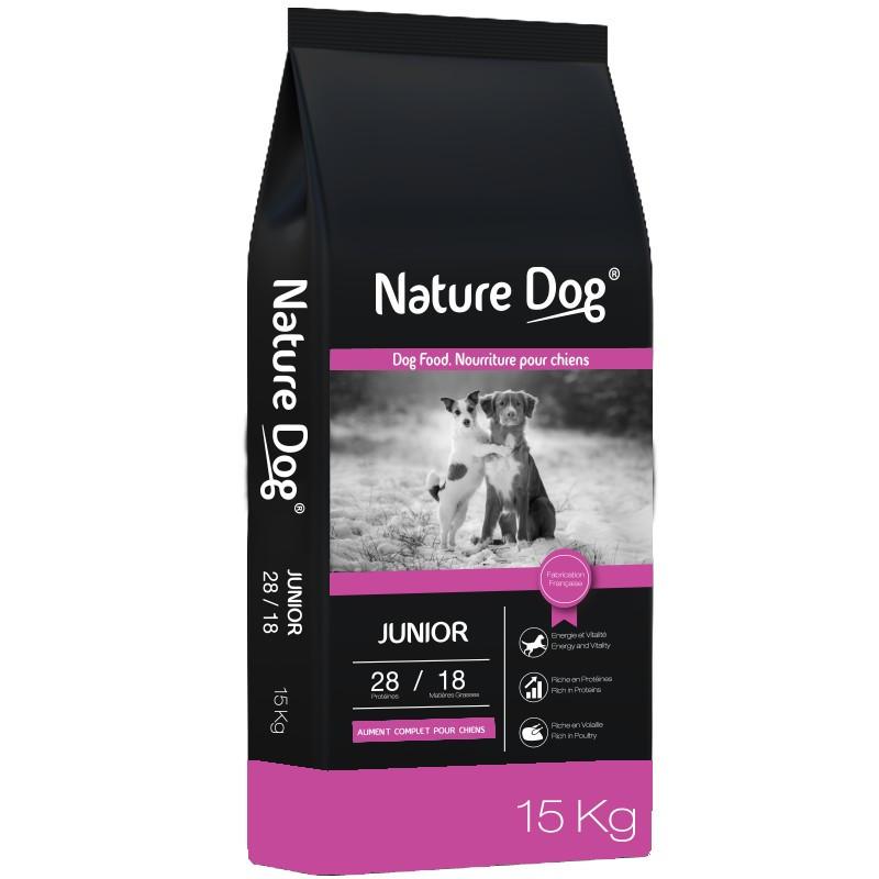 Croquettes chien Junior 28/18 Nature Dog