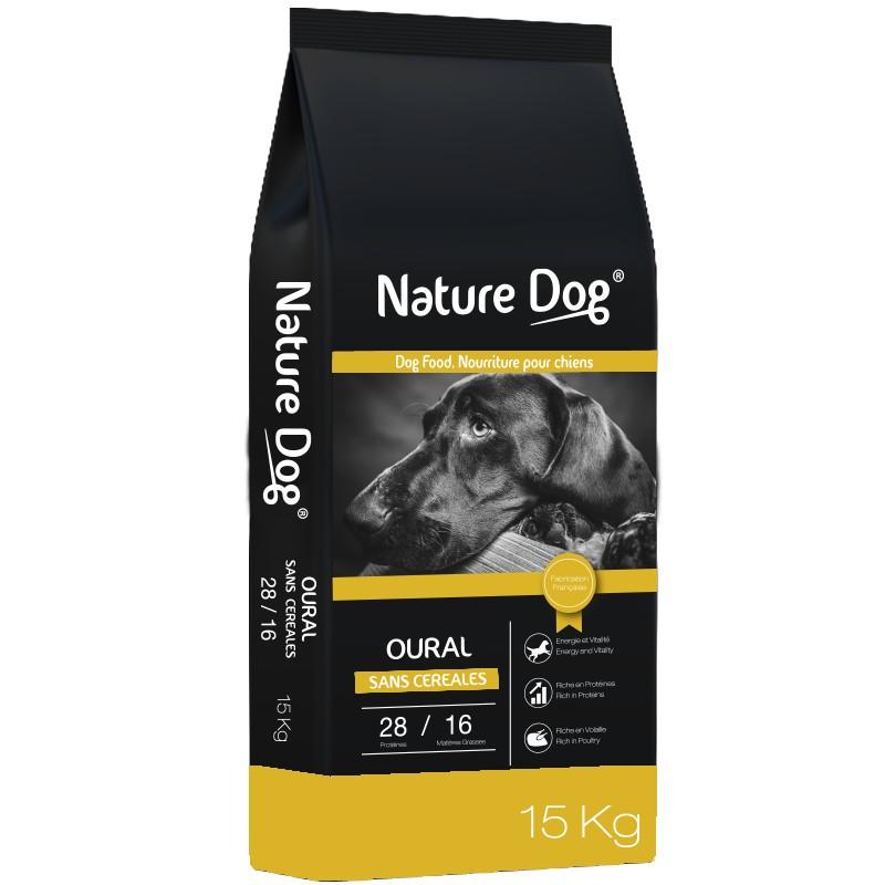 Croquettes chien sans céréale Oural Pro 28/16 Nature Dog