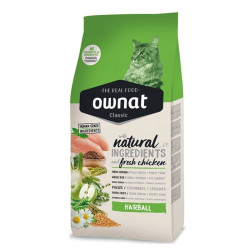 Croquettes pour chat Classic HairBall Ownat 4kg