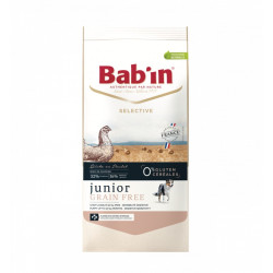 Croquettes chien Bab'in Selective Junior Grain Free poulet 12kg