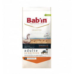Croquettes chien Bab'in Selective Adulte Sensitive poulet 12kg