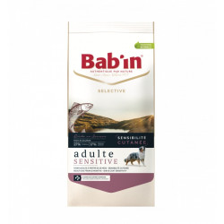 Croquettes chien Bab'in Selective Adulte Sensitive Saumon 12kg