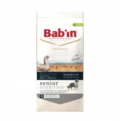 Croquettes chien Bab'in SELECTIVE Senior Sensitive Poulet 12kg