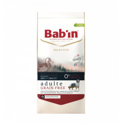 Croquettes chien Bab'in Selective Adulte Grain Free canard 12kg