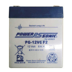 Accu 12V rechargeable Power Sonic PG-12V6 F2