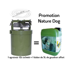 Promo agrainoir automatique 12 Volts Smart feeder + bidon goudron 5kg