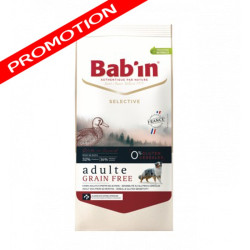 Croquettes Bab'in Selective Adulte Grain Free canard 12kg