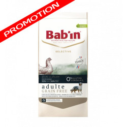Croquettes Bab'in Selective Adulte Grain free poulet 12kg