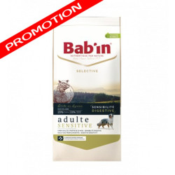 Croquettes chien Bab'in Selective Adulte Sensitive Agneau 12kg