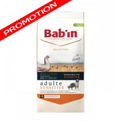 Croquettes Bab'in Selective Adulte Sensitive poulet 12kg