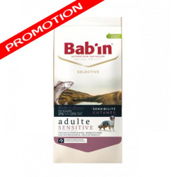 Croquettes Bab'in Selective Adulte Sensitive Saumon 12kg
