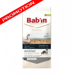 Croquettes Bab'in Selective Senior Sensitive Poulet 12kg