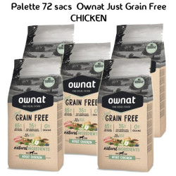Palette Ownat Just Grain Free Adult Chicken 72 sacs 14 kgs