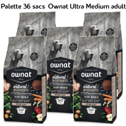 Palette Ownat Ultra Medium Adult 36 sacs 14kgs