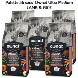 Palette Ownat Ultra Medium Lamb&Rice 36 sacs 14kgs