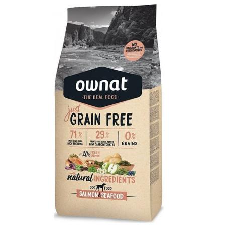 Croquettes pour chien Just Grain Free Salmon & Seafood Ownat 14 kg