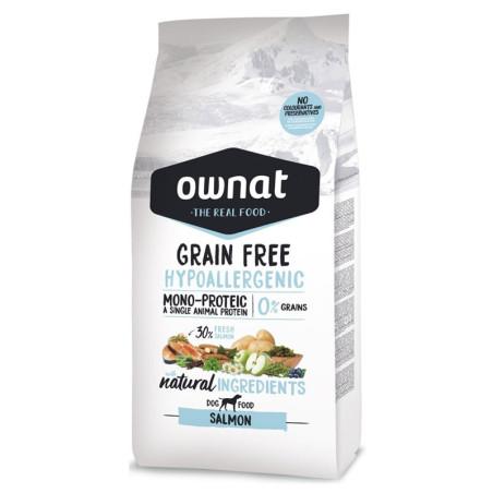 Croquettes pour chien Grain Free Hypoallergenic Salmon Ownat 14 kg
