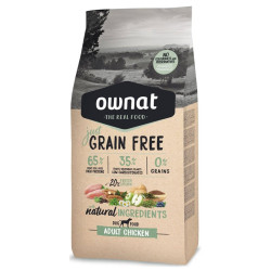 Croquettes Just Grain Free Adult Chicken Ownat 14 kg