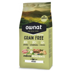 Croquettes Grain Free Prime Adult Chicken & Turkey chat Ownat 8 Kg