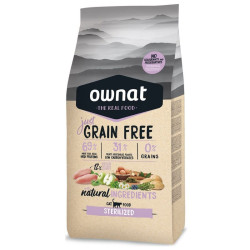 Croquettes chat Just Grain Free Sterilized Ownat 8 kg