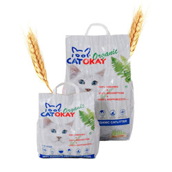 Litière chat biodégradable CatOkay Organic