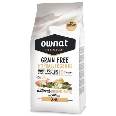 Croquettes pour chien Grain Free Hypoallergenic Lamb Ownat 14 kg