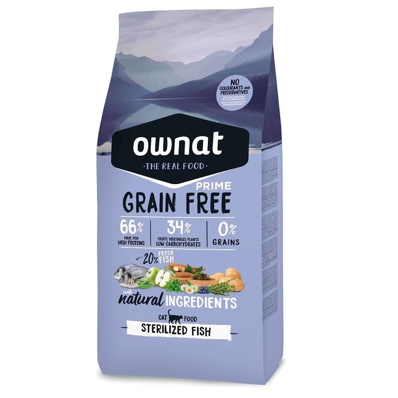 Croquettes Chat Grain Free Prime Sterilized Fish 3kg