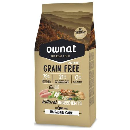 Croquettes chat Grain Free Prime Hair&Skin Care Ownat 3Kg