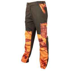 Pantalon renforts camouflage orange Treeland