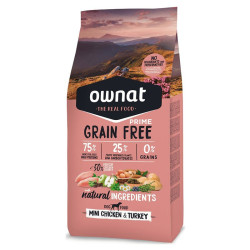 Croquettes Grain Free Prime Mini Chicken & Turkey Ownat 3Kg