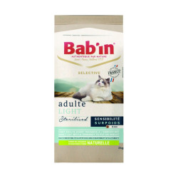 Croquettes chat Bab'in Selective Adulte Light 2kg