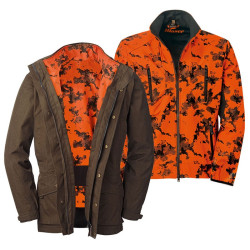 Veste Hybrid 2 en 1 Blaser Camo orange / marron
