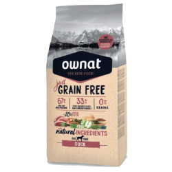 Croquettes Just Grain Free Canard Ownat 14 kg