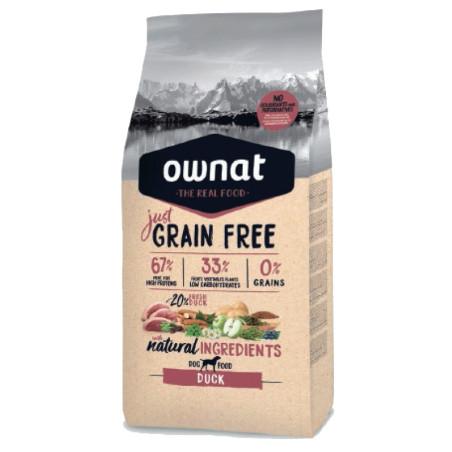 Croquettes Just Grain Free Canard Ownat 14 kg