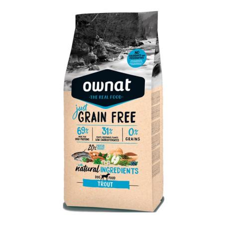 Croquettes Just Grain Free Truite Ownat 14kg