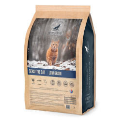 Croquettes Sensitive Cat Low Grain Wolfood 3kg