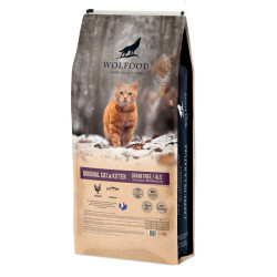 Croquettes Original Cat & Kitten Wolfood 10 kg