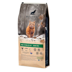Croquettes Adult sterilized Cat Wolfood 10kg