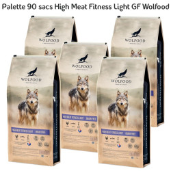 Palette 90 sacs High Meat Fitness Light GF 12kg Wolfood