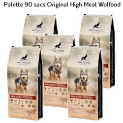 Palette 90 sacs Original High Meat 12kg Wolfood