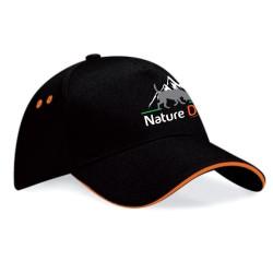 Casquette Nature Dog noire et orange - BF15C