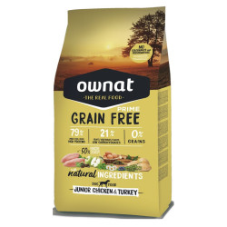 Croquettes Grain Free Prime Junior Chicken & Turkey Ownat 3 kg