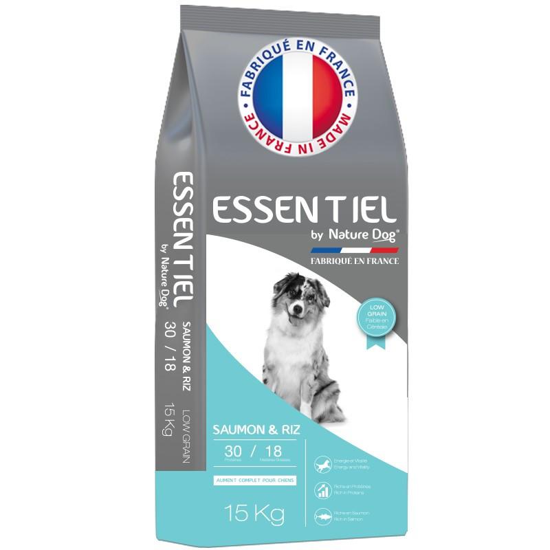 Croquettes Essentiel Saumon 30/18 Low Grain Nature Dog