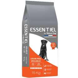 Croquettes essentiel Grain Free Volaille 40/20 Nature Dog