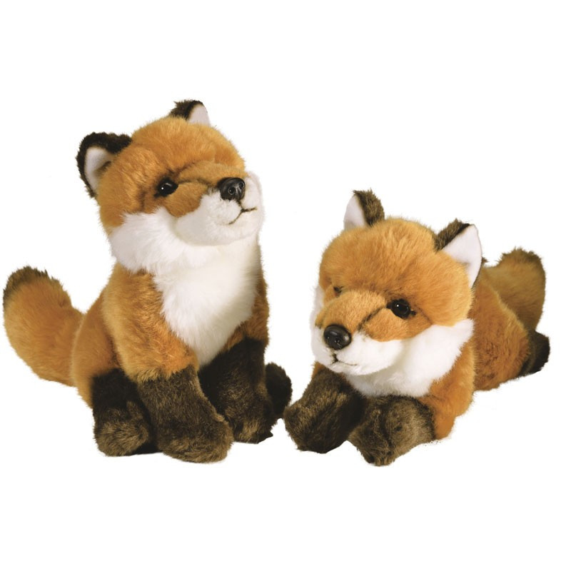 Peluche Couple Renards Unifrance