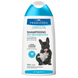 Shampoing anti-démangeaisons pour chiens 250ml Francodex